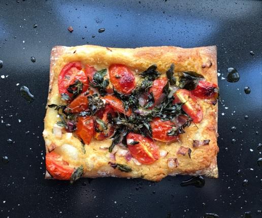 Oregano pastry pizza