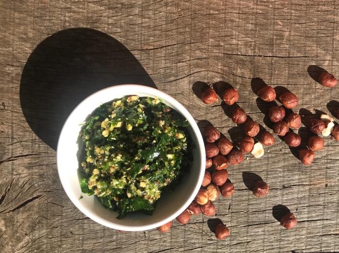 Wild garlic & hazelnut pesto